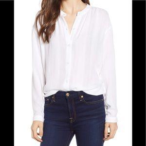 Rails Eloise Perla stripe white blouse size small